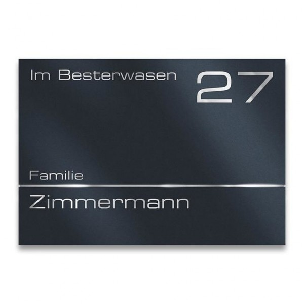 Hausnummerschild Edelstahl