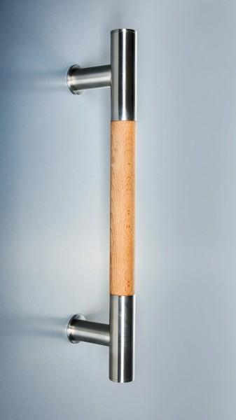 Edelstahl-Holz-Stoßgriff Serie 1300 Stangengriff gerade Stützen