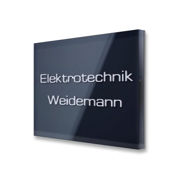 Namensschild Edelstahl u.Acrylglas
