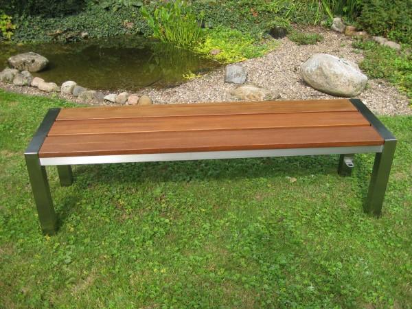 Edelstahl - Gartenbank- 10000 -Holz - V2A