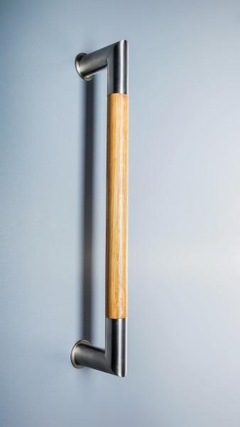 Edelstahl-Holz- Stoßgriff Serie 1000 Gehrung