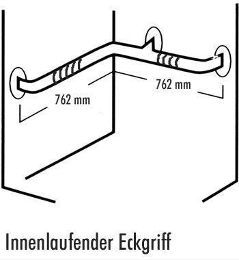 Edelstahl-RAL-Halte-Stützgriff 7700 Innenlaufender Eckgriff