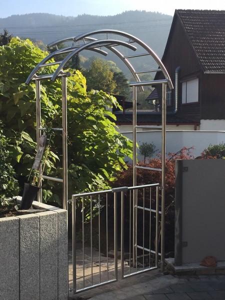 Edelstahl - Rosenbogen - 16000 - Form - geteilt-Tür