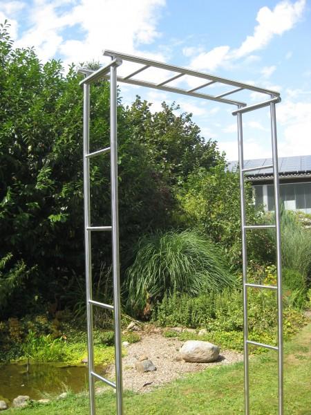 Edelstahl - Rosenbogen - 15000 - Form - gerade