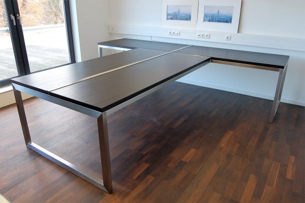 Edelstahl - Schreibtisch - 11000 - V2A
